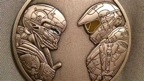 halo  guardians challenge coin   military