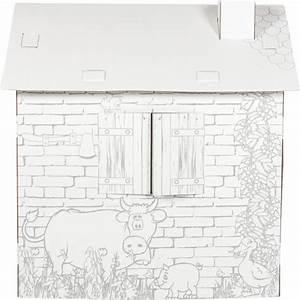 Cabane En Carton À Colorier : maison de jeu colorier en carton cabane mondialbaby ~ Melissatoandfro.com Idées de Décoration