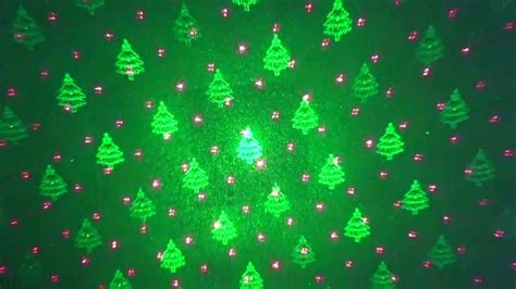 1byone christmas laser lights with green christmas tree