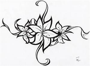 Tumblr Tribal Flower Tattoo Design 2015