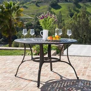 Fonzo, Outdoor, Bronze, Cast, Aluminum, Circular, Dining, Table, Only, U2013, Gdf, Studio