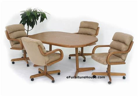 dining table with rolling chairs dining chairs on wheels best home design 2018