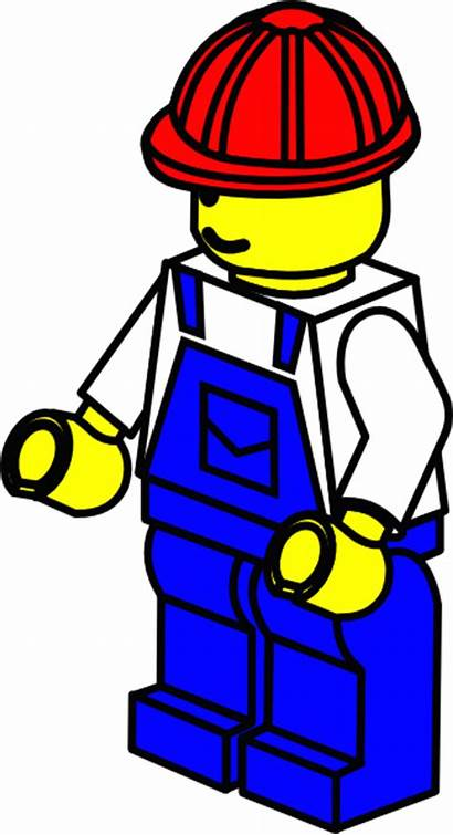 Lego Clipart Worker Construction Clip Factory Hat