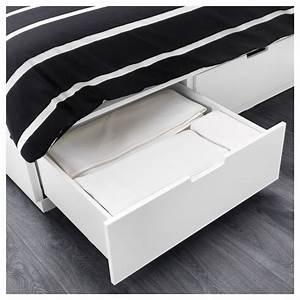 Lit Ikea Rangement : nordli cadre lit avec rangement blanc 160 x 200 cm ikea ~ Teatrodelosmanantiales.com Idées de Décoration