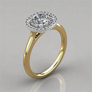 plain shank cushion design halo engagement ring With halo engagement ring with plain wedding band