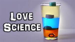 Density Science Experiment: Pour Water, Oil, Syrup Into A ...