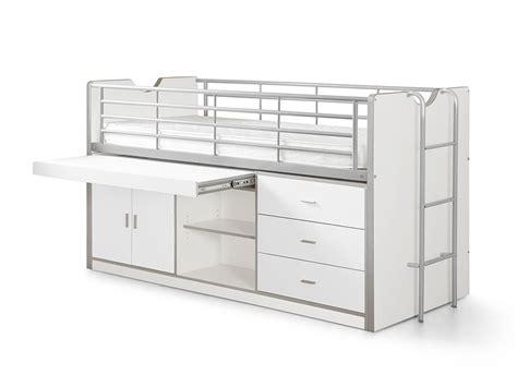 bureau de lit lit mezzanine avec bureau et rangement lit mezzanine ado