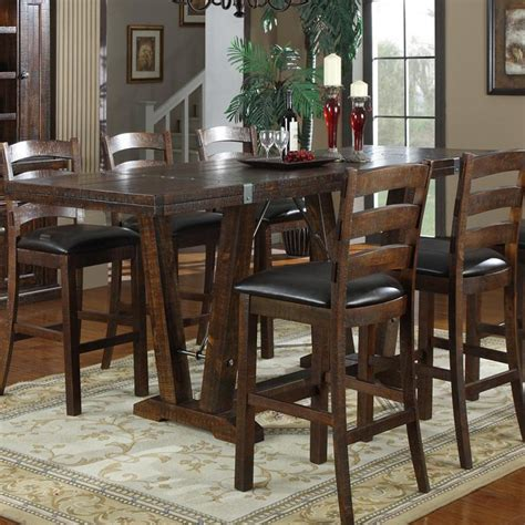 The Bar Table - emerald home castlegate 42 in bar height trestle table