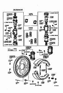 Rear Drum Brake Wheel Cylinder  U0026 Backing Plate For 1975