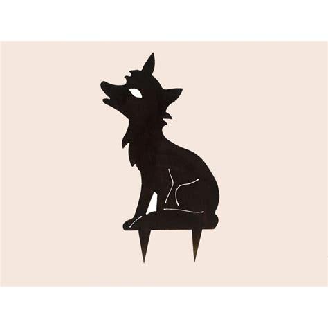 cuisine au gaz ou induction silhouette forme métal renard la cabane du chasseur