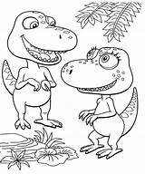 Coloring Train Pages Dinosaur Dino Benefits Cartoon Fossil sketch template