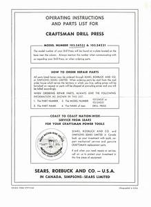Craftsman 103 24531 Users Manual