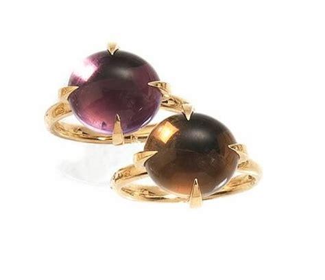 anelli nudo pomellato due anelli nudo pomellato in oro rosa ametista e