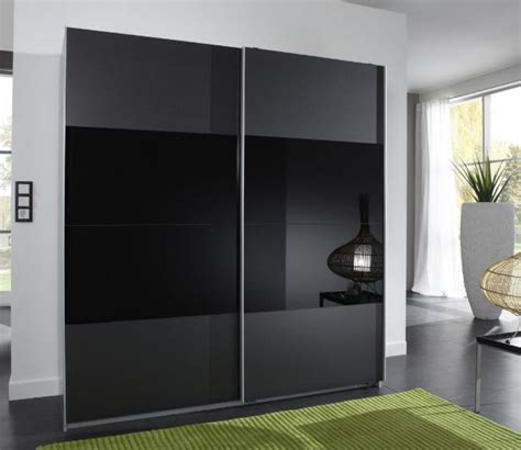 chambre complete adulte pas cher moderne munich 2 door sliding wardrobe charcoal black and black