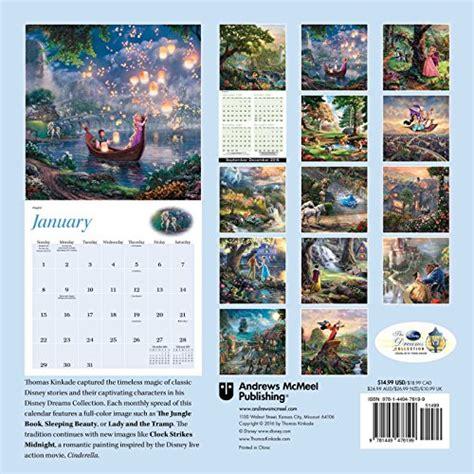 thomas kinkade desk calendar 2018 thomas kinkade the disney dreams collection 2017 wall
