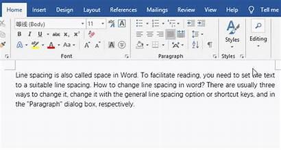 Change Spacing Word Line Double Single Space