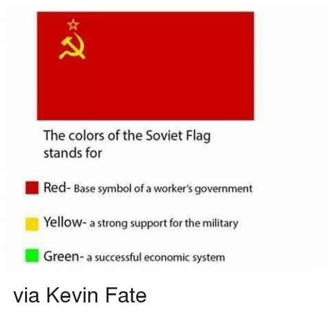 what does the color yellow stand for the colors of the soviet flag stands for base symbol