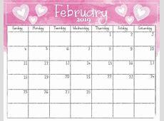 February 2019 Free Calendar Template Download