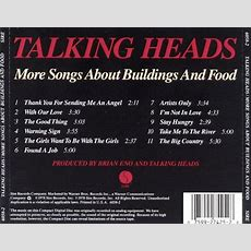 More Songs About Buildings And Food  Talking Heads  Songs, Reviews, Credits Allmusic