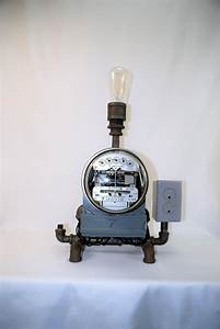 Electric Meter Lamp With Edison Bulb