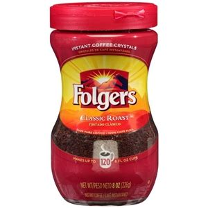 Dissolve 1 tablespoon folgers classic roast instant coffee crystals in 1 teaspoon hot water. Folgers Classic Roast Instant Coffee Crystals - 8 Oz.