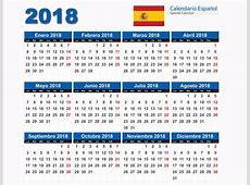 Calendários 2018 Espanhol CDR,PSD,Ai,PDF calendários grátis