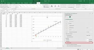 Excel 2016 Diagramm Trendlinie  Schnittpunkt Mit Null  Warum Passiert Nichts   Computer