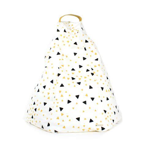 pouf chambre enfant pouf marrakech eclairs noir jaune nobodinoz pour chambre