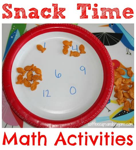 math activities for kindergarten snack time practice 857 | Use Snack Time for Practice Math Skills Needed for Kindergarten Gets kids to practice one to one correspondence counting math patterns and more in a FUN way
