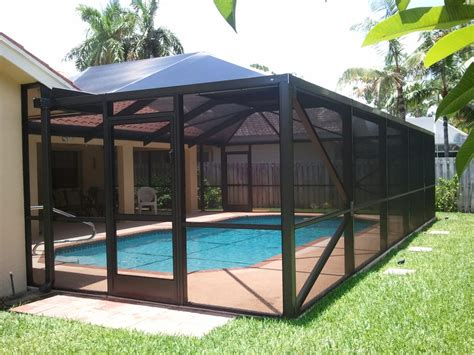 Backyard Screen Enclosures by Adding A Screened In Pool Enclosure Your Pool Or