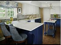 blue and white kitchen Blue and White Kitchen Designing Tips | Home and Cabinet ...
