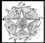 Wiccan Coloring Pages Wicca Pagan Pentagram Adults Drawing Samhain Colouring Goddess Printable Drawings Symbols Pentacle Children Sketch Sheets Getdrawings Getcolorings sketch template