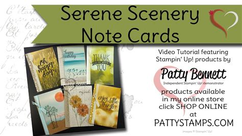How To Make Serene Scenery Note Cards With Stampin' Up