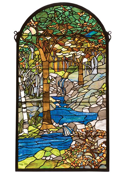 tiffany stained glass l meyda 77530 tiffany waterbrooks stained glass window
