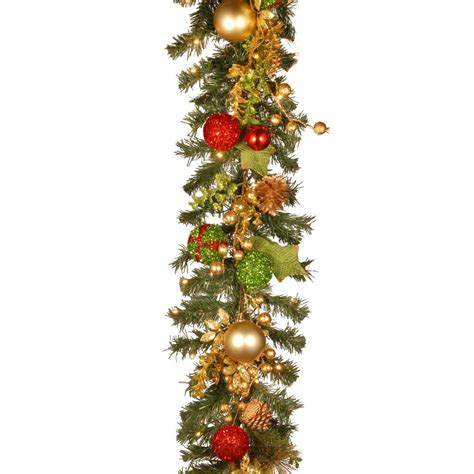 ft battery operated plaza artificial garland
