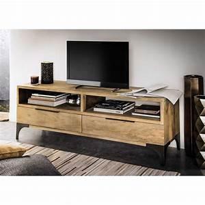 Meuble Tv Manguier : meuble tv en manguier massif l 145 cm salons tv units and living rooms ~ Teatrodelosmanantiales.com Idées de Décoration