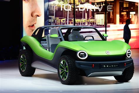 volkswagen id buggy concept wows  geneva auto express