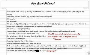 Best Friend Definition Short Essay Best Friend A Thumb Cover Letter  Best Friend Definition Essay Writing Paper With Border Best Friend