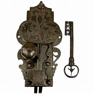 Large, 16th Century Etched Lock and Key http://www.1stdibs ...