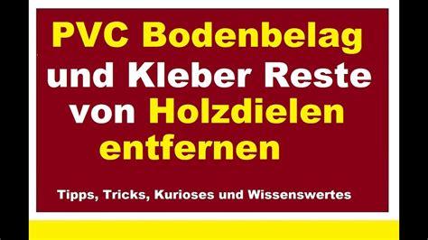 Klebereste Auf Pvc Boden Entfernen by Pvc Klebereste Holz Entfernen Ostseesuche