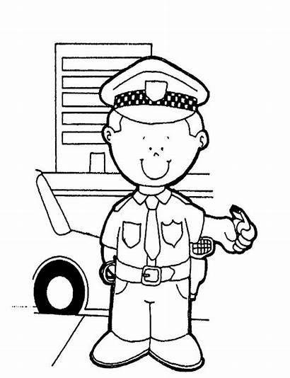 Coloring Policeman Pages Sheets Printable