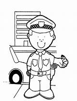 Coloring Policeman Pages Sheets Printable sketch template