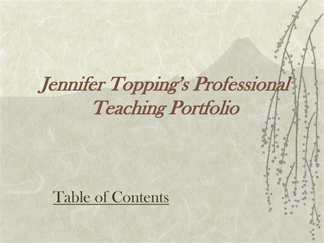 teaching portfolio template 6 best images of professional portfolio templates professional portfolio outline professional