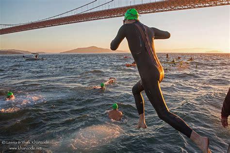 golden gate bridge water world swim