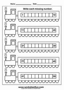 Missing Numbers 1 50 6 Worksheets Free Printable