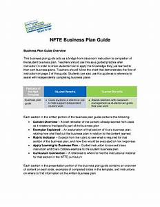 business plan examples for students forms and templates With nfte business plan template