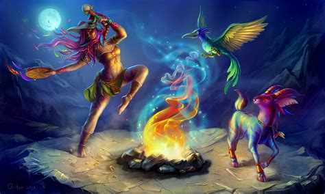 Animal Magic Wallpaper - wallpapers sorcery moon magical