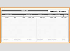 5+ free paycheck stub template word Samples Of Paystubs