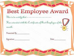 Employee Certificate Templates Free Best Employee Award Certificate Template