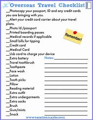 best travel checklist ideas and images on bing find what you ll love